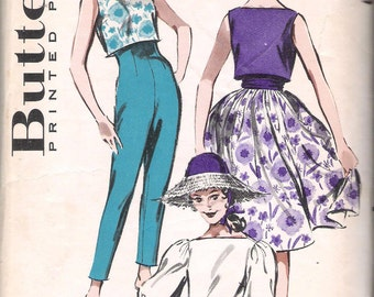 Butterick 8986 Vintage 1960's Junior's and Teens' Sportswear Coordinates; Size 10