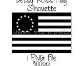 Betsy Ross Flag Silhouette, Silhouettes, Flag Silhouette, Silhouette Graphics, Silhouette Clipart, Clipart, Clip Art, Flags, Betsy Ross Flag