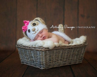 Baby Puppy Dog Hat & Tush Cover Newborn 0 3m SOFT Crochet  Photo Prop Baby Clothes Boys Girls Gift  Super CUTE Year Round