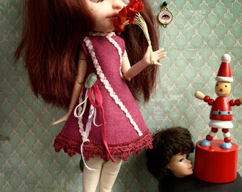 Carnivale. funfair dress for Blythe Dal Pullip Licca. Handmade doll outfit by KarolinFelix
