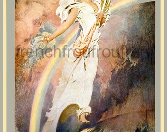 antique victorian lady liberty sowing the seeds of victory poster digital download