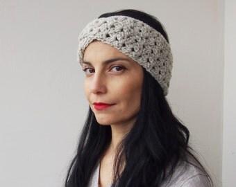 Crochet PATTERN turban retro headband vintage lace hat twist headwrap earwarmer, DIY tutorial Instant download