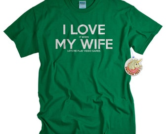 Funny Tshirts - Valentines Day Gifts for Him - Video Game Shirt - Husband Gift from Wife - I ...