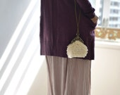 Sanded Beach, 20% off on sale seashell sequin, small natural handbag, shoulder bag