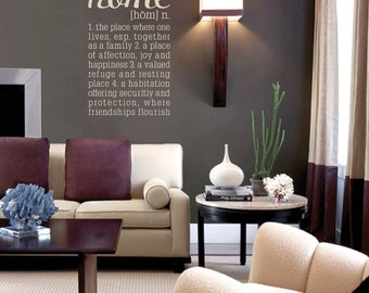 The Definition of Home Removable Vinyl Wall Art, home wall sticker wall words family room family love living room wall art new home