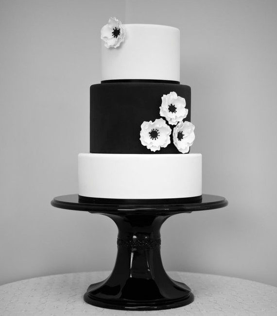 black wedding cake stands 16 inch black pedestal wedding cake stand by weddingfads 11886