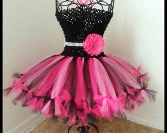 Petti tutu dress with matching Sash| Flower Girl tutu dress| Flower Girl dress| YOU choose colors Newborn-5T listing