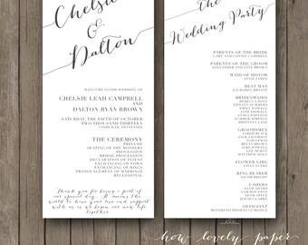 Printable Wedding Program - the Chloe collection