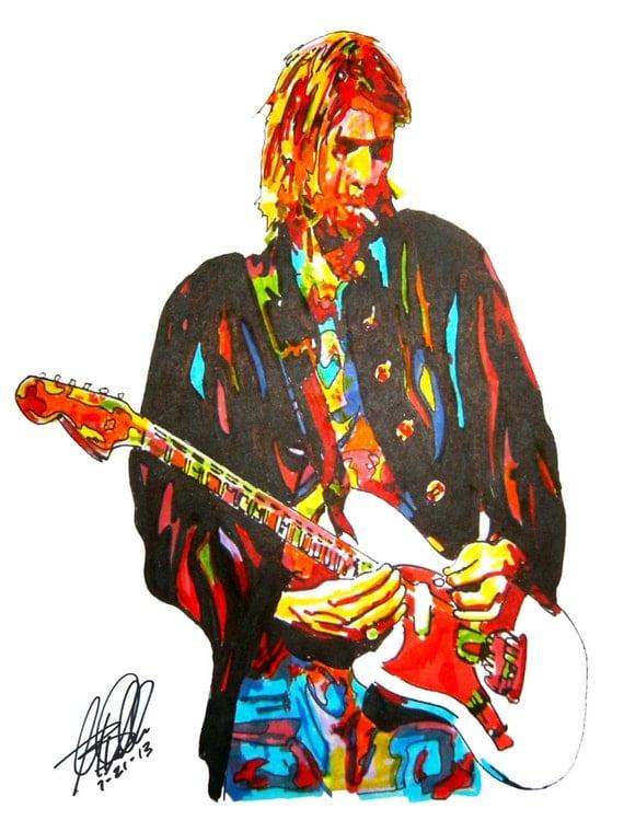 Kurt Cobain Nirvana Lead Singer Guitar Player Grunge