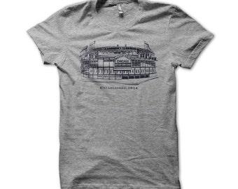 Wrigley Field Chicago Cubs American Apparel T-shirt - E113F