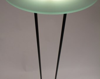 6 feet 3 in. UFO FLOOR LAMP Halogen torchiere by F.Fabian  Italia  80s ( pair available )