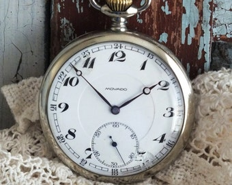 Antique Classic 1910 Movado Pocket Watch by avintageobsession on etsy...20% Discount