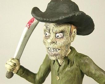 Zombie Horror Art Sculpture