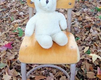 Mid Century Wood and Metal School Chair Kindergarten