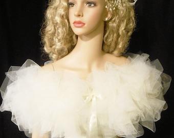 Bridal WRAP, BRIDAL Tulle  Boa, Bridal Shawl,  ALL Colors Available, Mix / Match