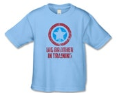 Big Brother To Be Shirt - Superhero Big Brother in Training T-Shirt -Distressed T-Shirt - Pregnancy Announcement Shirt - Big Brother Shirt