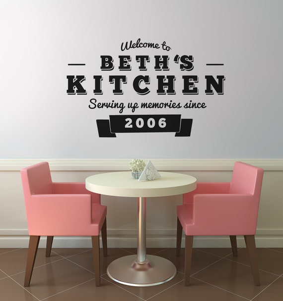 "Items similar to Custom Retro Kitchen Wall Decal ""Serving ..."