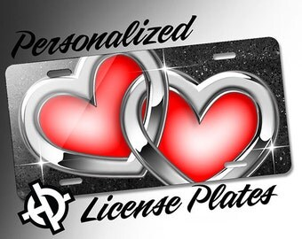 Chrome Hearts Red -AT1047- Airbrush License Plates Personalized Custom Auto Tags