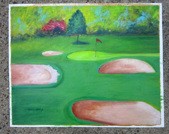 Golf Course Original Painting
