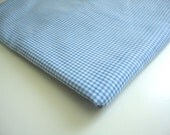 Blue gingham check fabric 1 yard blue and white