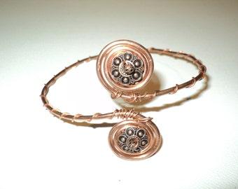 pick style: anklet or upper arm bracelet