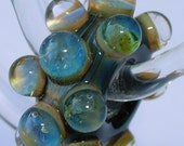 Beau Hawn - GLASSADICT  Lampwork Glass Boro Beads - Big Hole Bead - Fits European Style  CHARM BEAD