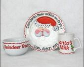 The Ultimate Cookies for Santa Plate, Mug and Reindeer Treats Bowl Set
