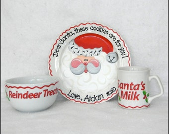 The Ultimate Cookies for Santa Plate, Mug and Reindeer Treats Bowl Set