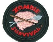 Zombie Survival Patch Boy Scouts Felt Cosplay Walking Dead