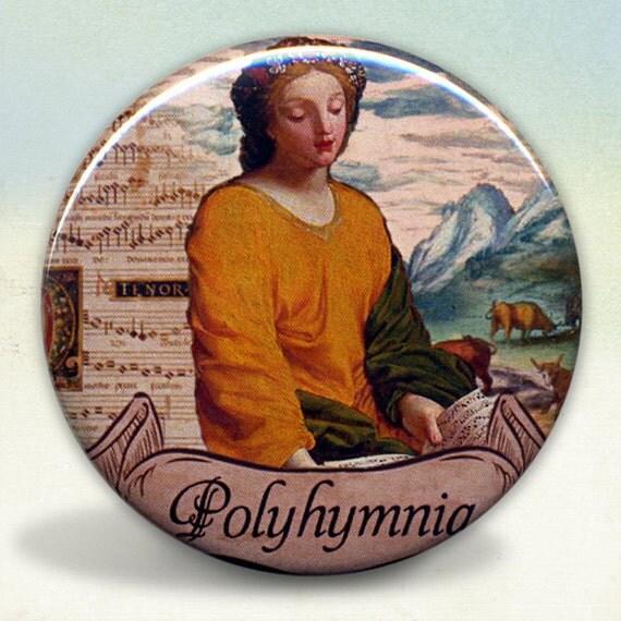 Muse Polyhymnia Greek Muse Pocket Mirror