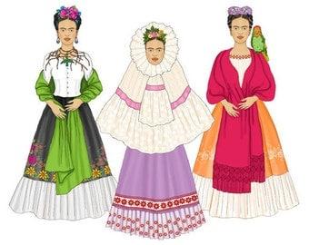 Frida Digital Paper Doll Set