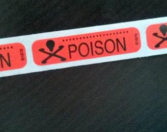 80 'POISON' stickers, red, for all your poisons
