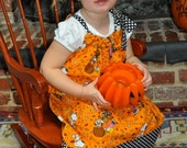 Cute Pumpkin Pillowcase Dress Size 3T Last One!