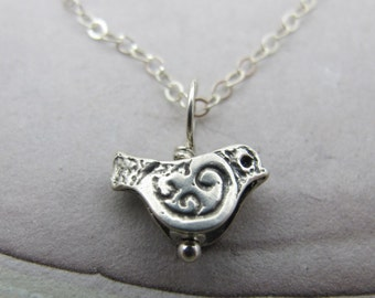 Little Bird Necklace - in sterling silver by Kathryn Riechert