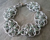 Chainmaille Jewelry - Jewelry Set - Helm Weave - Bracelet and Earrings - Chainmail Jewelry