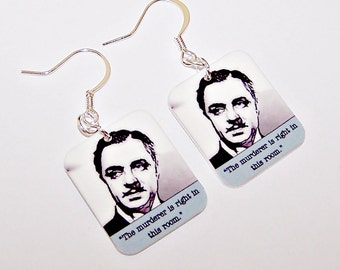 "WILLIAM POWELL ""The Thin Man"" Film Noir Earrings"