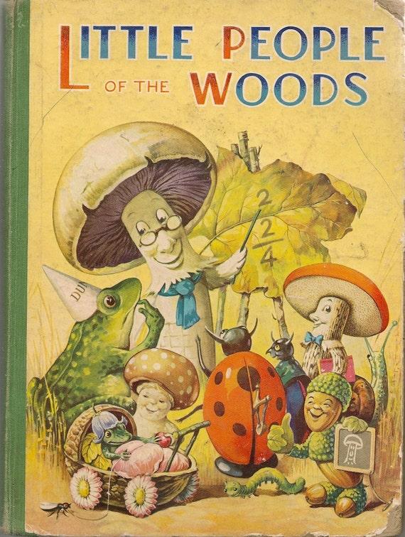 Vintage Kids Books My Kid Loves Koko S Kitten: VINTAGE KIDS BOOK The Little People Of The Woods