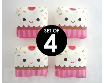 4 Cupcake Party Favors, Pocket Size, Party Toys, Goodie Bag, Birthday Party, Girls Birthday Party Favors, Slumber Party, Stocking Stuffers