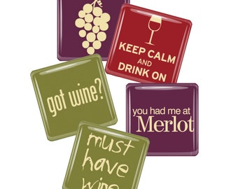 Wine Lovers Magnet Set - Got Wine? and more.....