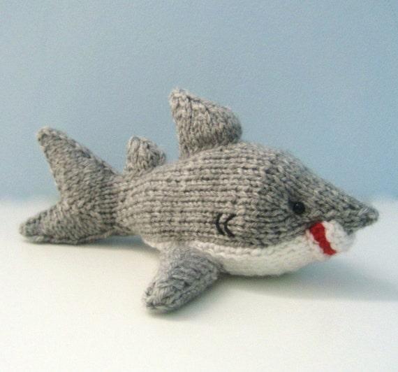 Amigurumi Knits Download : Amigurumi Knit Shark Pattern Digital Download