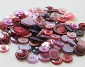 80 Purple and Maroon Buttons - pack 1