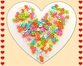 RAEWADOLLY 50pcs Heart Button 6mm for Doll clothes, Blythe, Pullip, Dal, Barbie