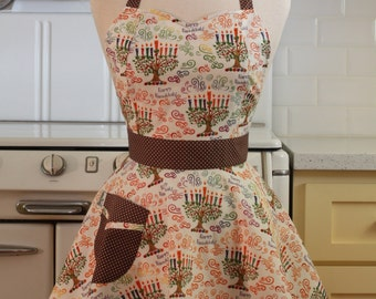 Retro Sweetheart Apron Happy Hanukkah BELLA
