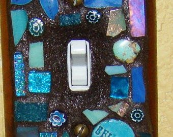 Key West Mosaic ART light switch cover Believe