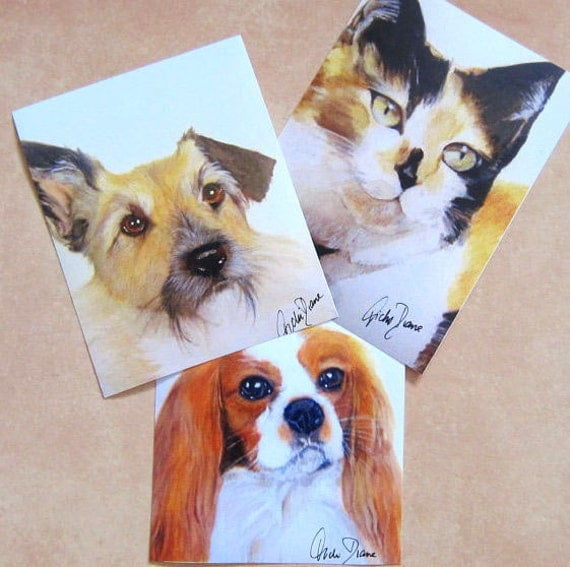 Buster, Nellie and Fred  - 3 Fine Art Prints