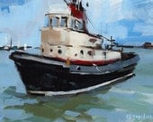 Art Print Boat Seascape - Boat by David Lloyd