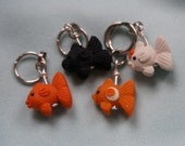 Fancy Goldfish Stitch Markers (glint of 4)