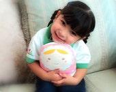 Carminita pastel butterfly --matryoshka doll/pillow/plush/softie/decor ---gde (pink)-- (ship in 3 days)