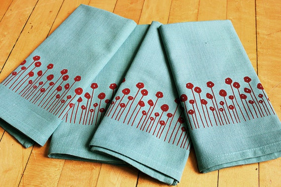 https://www.etsy.com/listing/158791043/screen-printed-cloth-napkins-red-poppies