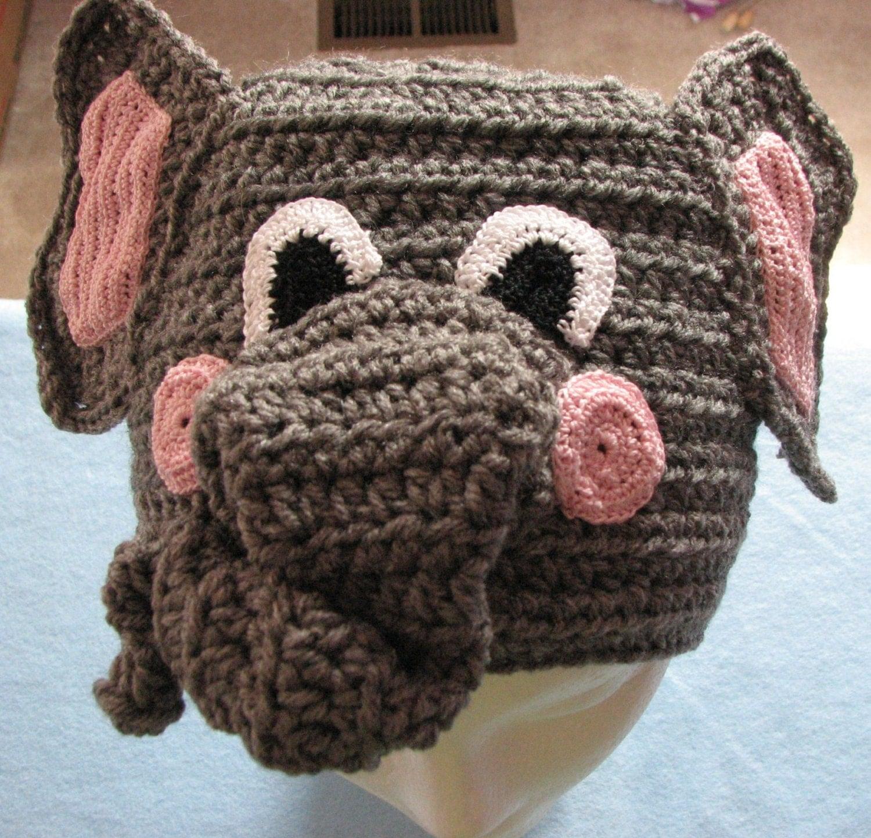 Elephant Hat Crochet Pattern In USA Terms PDF Digital